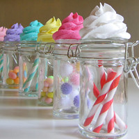 Fake Cupcake Candy Shoppe Classic Swirl Glass by 12LegsCuriosities