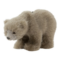 Down To The Woods   Bear Christmas Decoration Grey