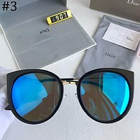 DIOR 2018 cat ear round frame color film fashion personality big box sunglasses F-A-SDYJ #3
