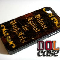 Defense Against The Dark Art Leather Book Harry Potter iPhone Case Cover|iPhone 4s|iPhone 5s|iPhone 5c|iPhone 6|iPhone 6 Plus|Free Shipping| Consta 475