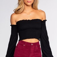 Kate Crop Top - Black