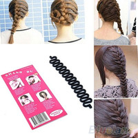 Fashion French Hair Braiding Tool Roller With Magic hair Twist Styling Bun Maker = 1651276996