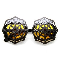 Large Spider Web Creepy Spider Halloween Costume Party Glasses