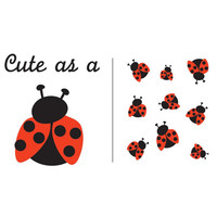 Cute As A Ladybug Iron On color transfer for Baby