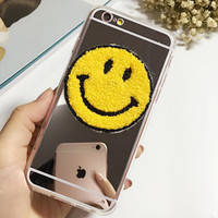 Cute Sunshine Cosmetic Mirror Smiling Face Case Cover for iphone 5s 6 6s Plus Gift 180