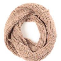 Tan Coffee Crush Cable Knit Scarf