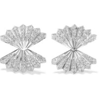 Anita Ko - Fan 18-karat white gold diamond earrings