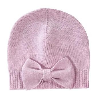 Girl's Cashmere Hat with handmade Bow Detail