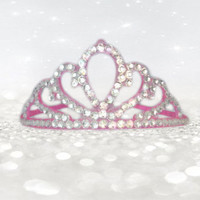 Pink Princess Accessories - Pink Tiara - Pink Crown - Crown Headband - Girls Birthday Accessories - Bachelorette Party - Party Accessories