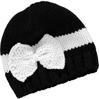 Bow-Accent Knit Hats for Baby