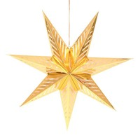 "Holiday Hanging Star Large 30"" Gold"