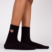Hollow Heart Sock | Black