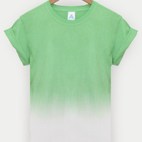 ANDCLOTHING — Tropical Green AND Dip Dye Tee