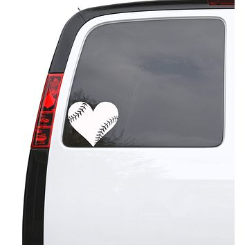 """Auto Car Sticker Decal Baseball Heart Ball Sports Truck Laptop Window 5.7"""" by 5"""" Unique Gift ig4757c"""