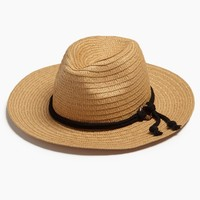 Rope Wide Brim Sun Hat - Natural Brown