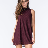 SOCIALITE Mock Neck Lace Dress | Short Dresses