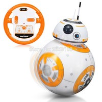 Star Wars Force Episode 1 2 3 4 5  RC Upgrade Droid With Sound BB-8 Ball 2.4G Remote Control BB 8 Intelligent Robot Action Figure Toys For Children Model AT_72_6