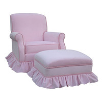 Angel Song 201021153Foam Classic Velvet Pink Adult Club Rocker Glider