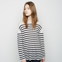 The Long Sleeve Striped Linen Shirt by Charlotte Gainsbourg x Current / Elliott