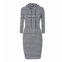 Women Dress Winter Dresses Eliacher Brand Plus Size Casual Female Clothing Chic Fashion Striped Body Female