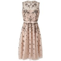 Pre-owned Valentino Resort 2013 Nude Organza Mesh Dress