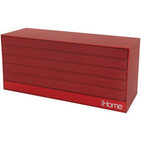Ihome Bluetooth Rechargeable Stereo Mini Speaker With Nfc (red)