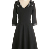 ModCloth Vintage Inspired Long 3 A-line Steel Guitar the Show Dress