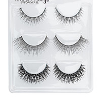FOREVER 21 Set of Six Faux Lashes Black One