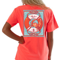 Lilly Grace Short Sleeve Tee- Lifesaver Crab