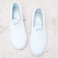 nike classic casual white black canvas shoes