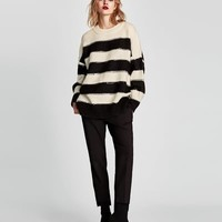 SEQUINNED STRIPED SWEATER