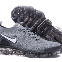 HCXX N335 Nike Air Vapormax Flyknit 2 Casual Running Shoes Grey White