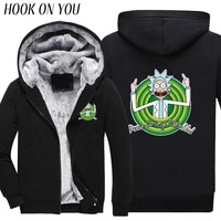Fleeces Funny Thermal Coats Rick and Morty
