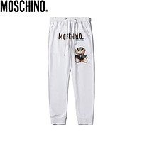 Moschino 2019 new thin section loose nine points casual pants pants feet pants white