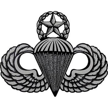 Army Master Para Wing Clear Decal