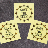 Save the Bees Sticker Pack, Honeybees, Car Decal