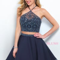 Blush 11376 Two-Piece Dress With Beaded Top