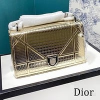 DIOR New Women Shopping Bag Leather Handbag Tote Shoulder Bag Crossbody Satchel