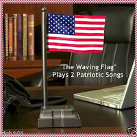 The Waving Electronic American Flag Plays 2 Songs; Gift For Military Veterans
