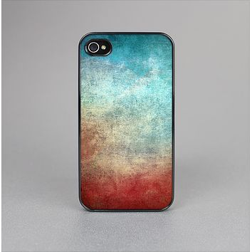 The Faded Grunge Color Surface Extract Skin-Sert for the Apple iPhone 4-4s Skin-Sert Case