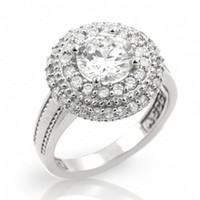 Misti's 2 Carat CZ Dome Style Sterling Silver Engagement Ring