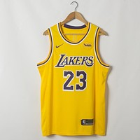 Men's Los Angeles Lakers LeBron James Nike Gold 2018/19 Swingman Jersey - Icon Edition