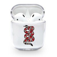 Red Snake Airpods Case