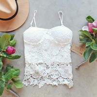 La Lune Lace Top in White