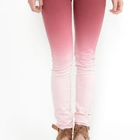 Melted Bubblegum Ombre Jeans