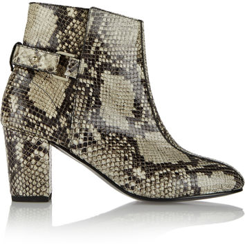 NewbarK - Sabrina snake-effect leather ankle boots