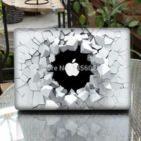 """Cracking Wall Laptop Sticker Full Cover Skin for Apple MacBook Air/Pro/Retina 11"""" 13"""" 15 Computer Protective Notebook Case Decal"""