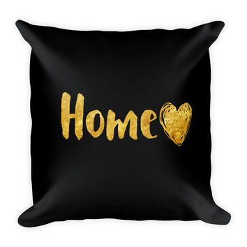 Home and Hearts Square Pillow