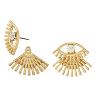 Eye and Lash Ear Jackets in Gold