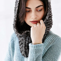 Marled Eyelash Hooded Snood Scarf - Urban Outfitters